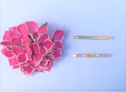 Cornwall hair clips pink/yellow