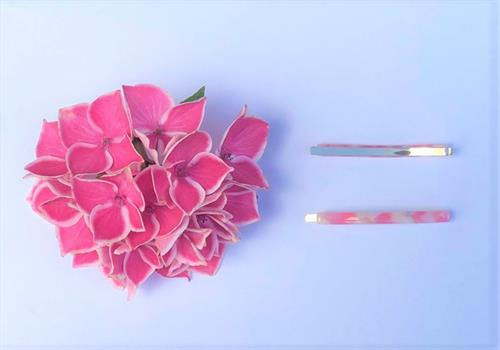 Cornwall hair clips pink