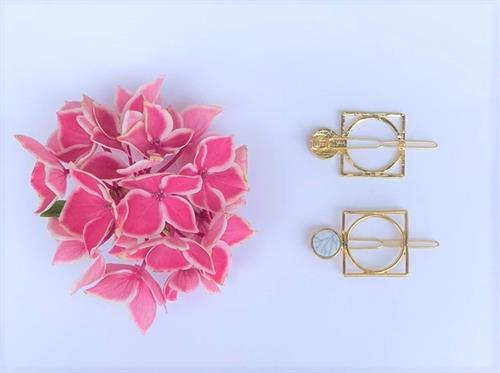 Chandler hair clips gold/white