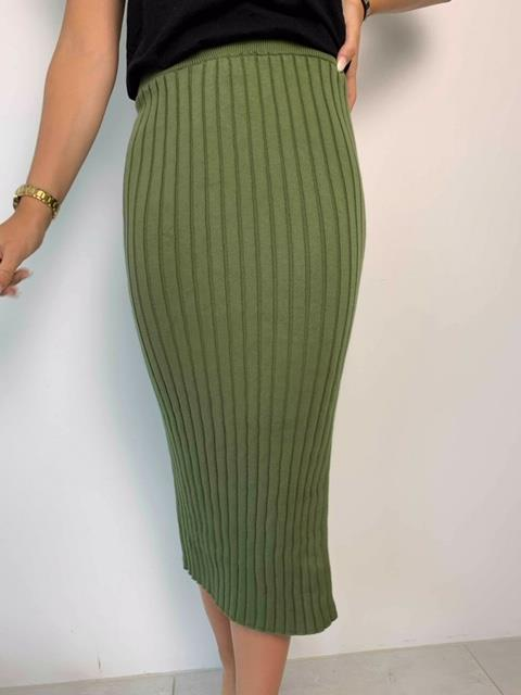 Mikala skirt khaki green