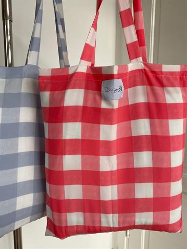 Designby Si tote bag - red checked