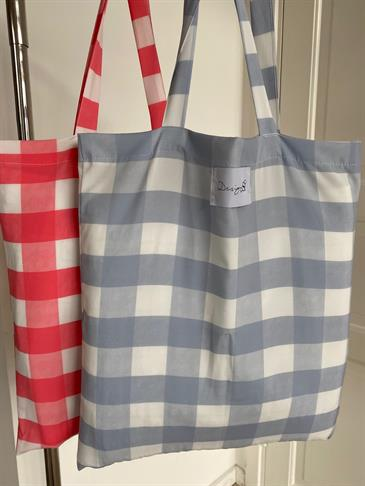 Designby Si tote bag - Blue checked