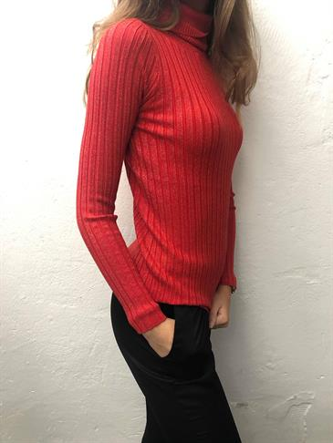 Pernille glitter blouse red