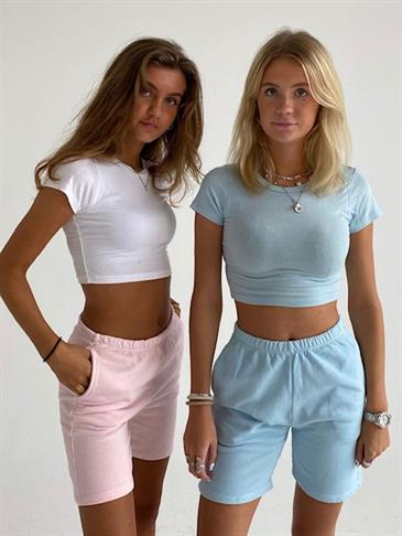 Coreen cropped top - light blue