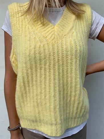 Mynte knit vest yellow