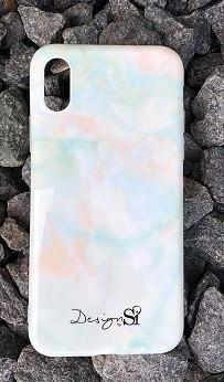 iPhone cover mint marble
