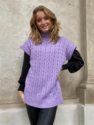 Amara knit vest - purple