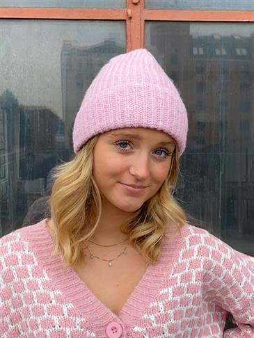 Sofia knitted hat - pink