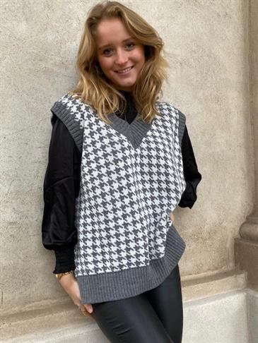 Mia Maja knit vest - grey